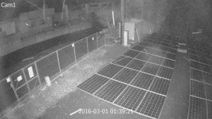 夜間でも明るい防犯カメラ、セキュリティカメラ